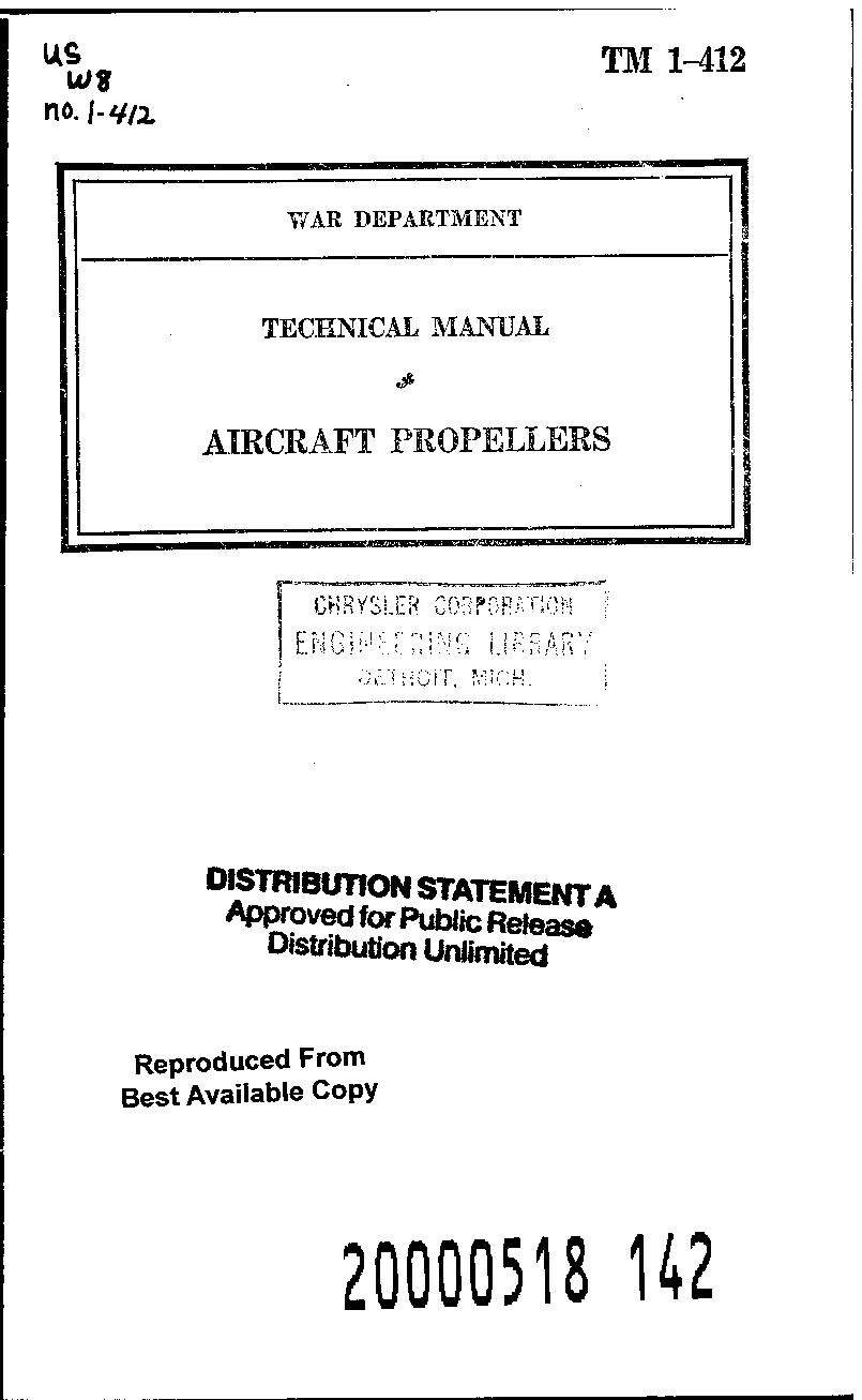 United States. War Department - TM 1-412 Aircraft Propellers
