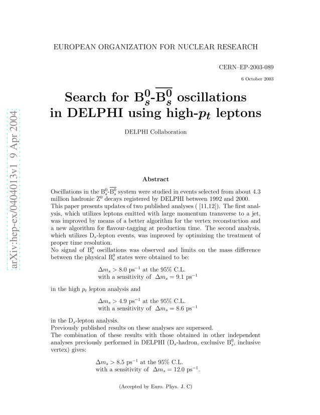 The DELPHI Collaboration - Search for B0_s - anti-B0_s oscillations in DELPHI using high-p_t leptons