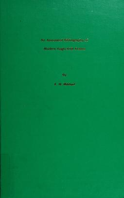 Cover of: An annotated bibliography of modern Anglo-Irish drama | E. H. Mikhail