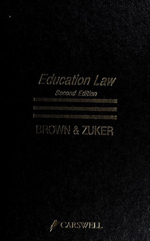 Education law by Anthony F. Brown