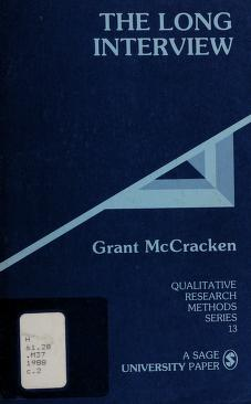 Cover of: The long interview | Grant David McCracken